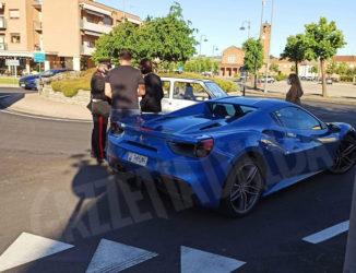 Ferrari si scontra contro una Fiat Panda in località Vaccheria