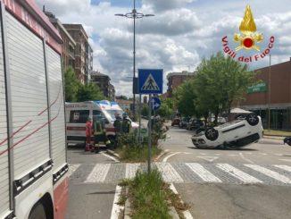 Incidente in corso Torino ad Asti, due le auto coinvolte, un ferito