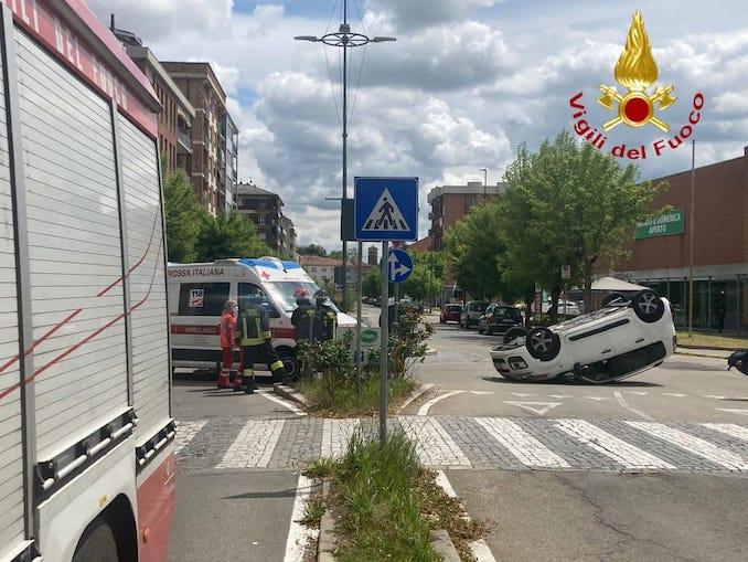 Incidente stradale ad Asti