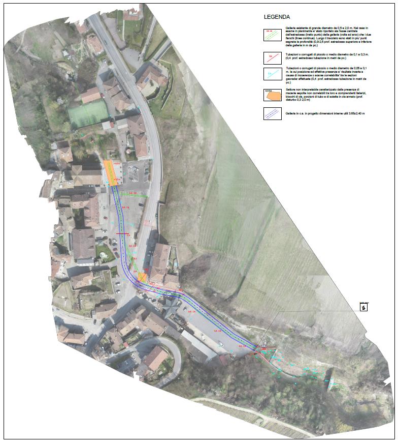 Lavori rifacimento del nuovo tunnel del rio Santa Maria a Cossano Belbo