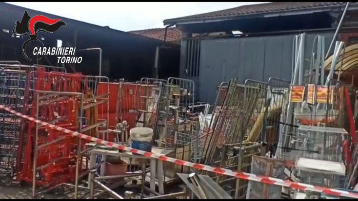 Moncalieri- area adibita ad illecito stoccaggio di rifiuti (1)