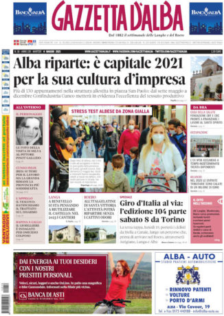 La copertina di Gazzetta d'Alba in edicola martedì 4 maggio