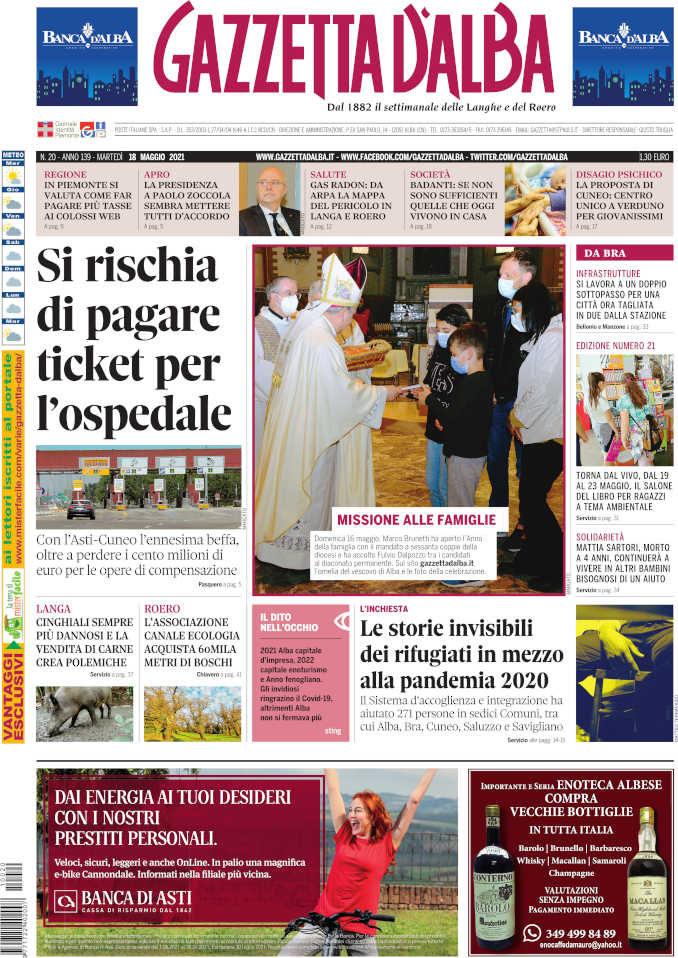 La copertina di Gazzetta d'Alba in edicola martedì 18 maggio