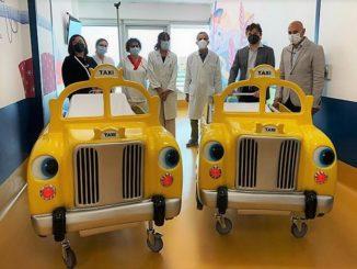 """Donati dalla alla Pediatria dell'Ospedale di Verduno due """"Taxi Ludobarelle"""" ed un cardiomonitor"""