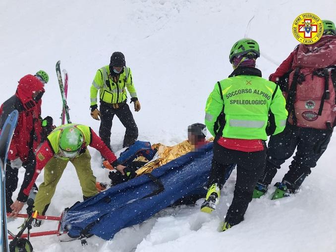 Scialpinista recuperato nel Vallone del Chisonetto