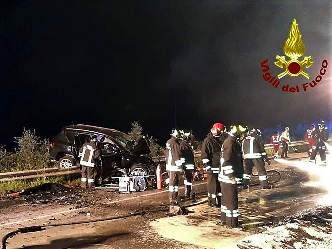 Scontro frontale fra due auto a Cavallermaggiore 23 maggio 2021 (2)