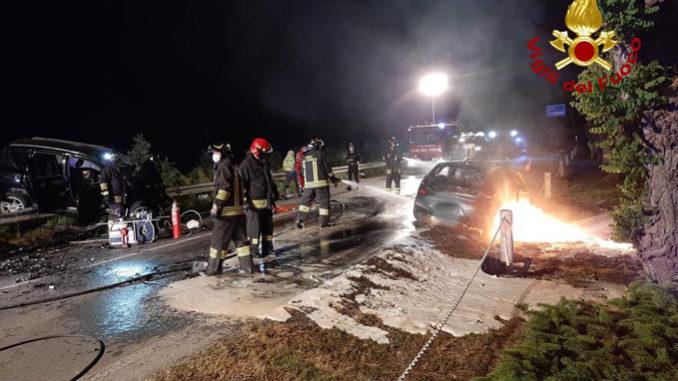 Scontro frontale fra due auto a Cavallermaggiore: deceduta una persona ed una ragazza elitrasportata all'ospedale in codice rosso