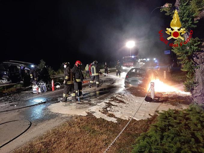 Scontro frontale fra due auto a Cavallermaggiore 23 maggio 2021