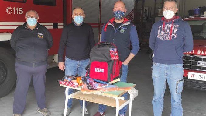 Uno zaino porta utensili per i Vigili del fuoco di Santo Stefano Belbo