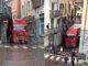 Camion incastrato nella centrale via Massimo d'Azeglio a Canelli