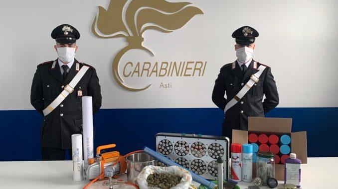 I Carabinieri di Asti sequestrano un laboratorio di  produzione della droga