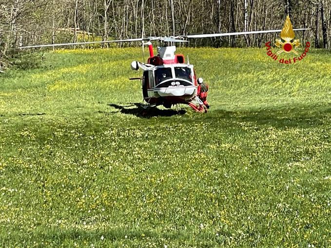 elicottero a Casteldelfino, località Torrette