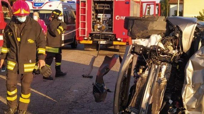 I pompieri di Asti intervengono per un incidente nei pressi di Valfenera