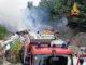 Incendio sul piazzale di un deposito edile, a fuco uno stoccaggio di masserizie