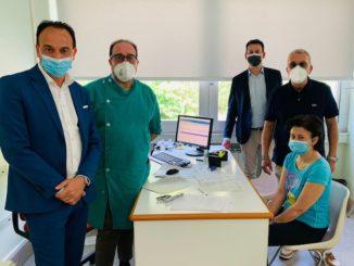 Cirio in visita all'hub vaccinale di Cortemilia 1