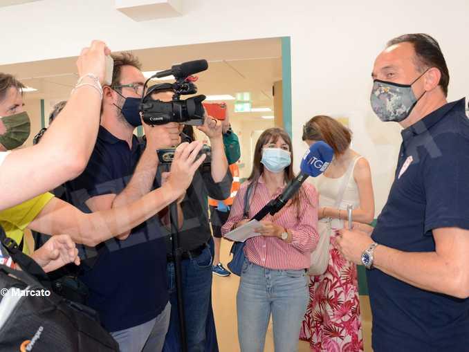 Il presidente Alberto Cirio ha ricevuto la prima dose di vaccino