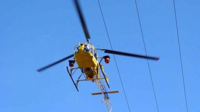 Elicotteri a bassa quota a Farigliano per monitorare la rete elettrica