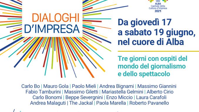 Alba: al via i dialoghi di impresa di Confindustria Cuneo con grandi ospiti, dal 17 al 19 giugno 1