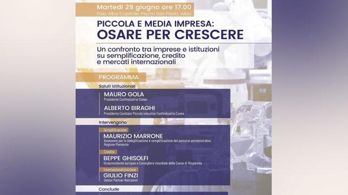 Carlo Robiglio, presidente nazionale della Piccola Industria di Confindustria Cuneo ad Alba