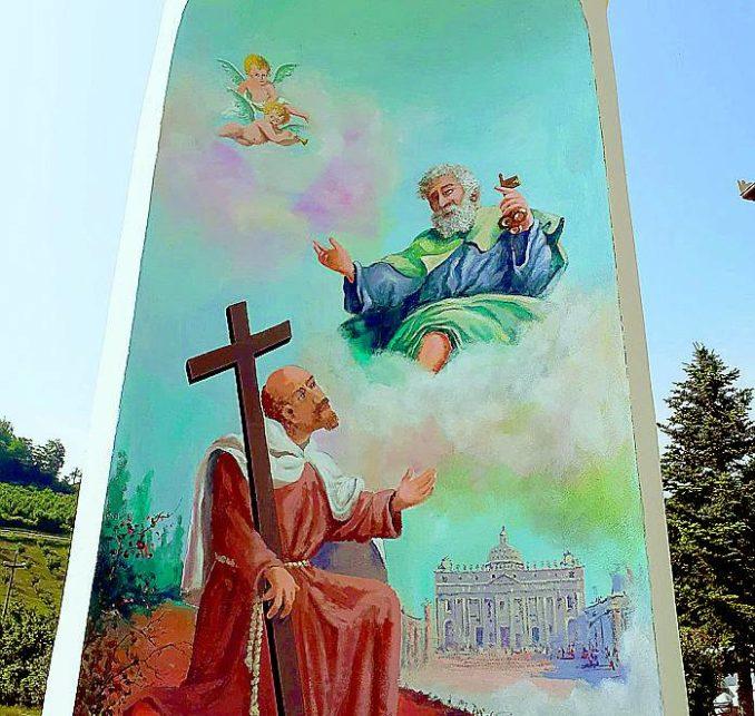 Il pilone ottocentesco di Santa Vittoria ha di nuovo i tre dipinti