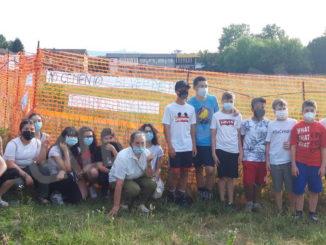 Presidio degli studenti della Macrino contro il cantiere a San Cassiano