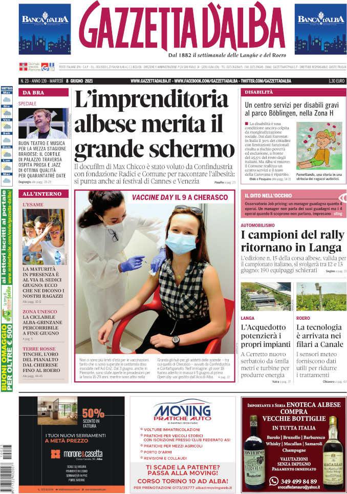 La copertina di Gazzetta d'Alba in edicola martedì 8 giugno