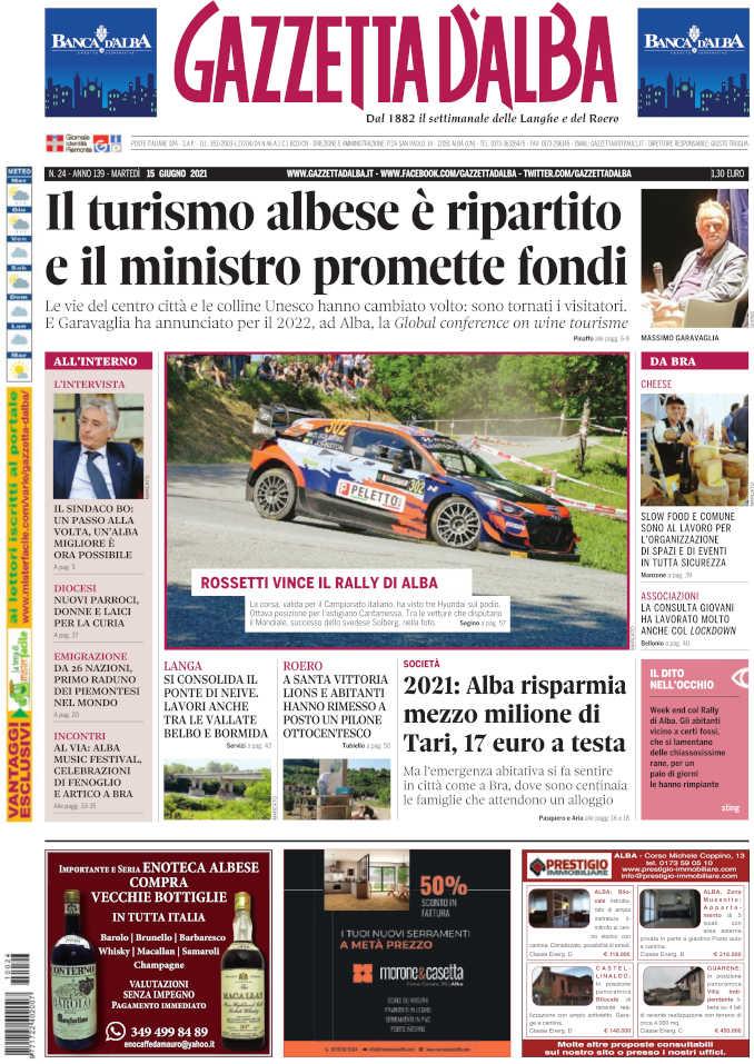 Prima_pagina_Gazzetta_Alba_24_21