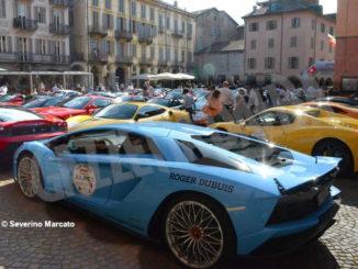 Raduno di Ferrari e Lamborghini ha fatto tappa ad Alba 1