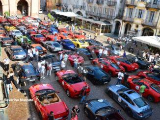 Raduno di Ferrari e Lamborghini ha fatto tappa ad Alba 5