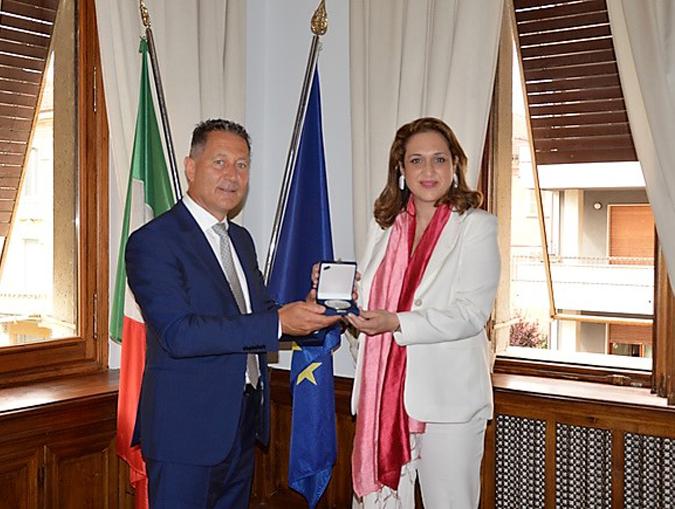 Vicky Loizou in visita alla Camera di Commercio di Cuneo