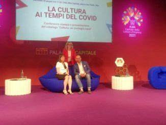 L'assessore regionale Vittoria Poggio interviene al Pala Alba per la presentazione del catalogo Cultura un contagio sano