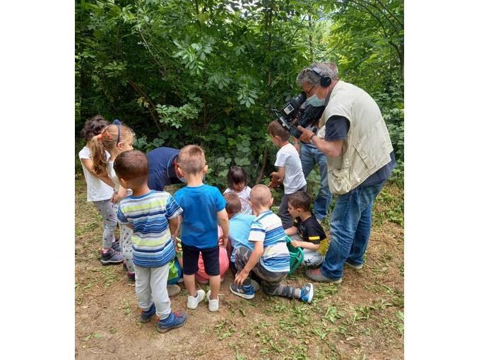 Il Tg3 regionale ha dedicato un servizio all'asilo nel bosco di Valle Talloria 1