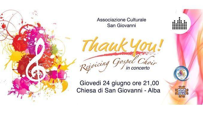 Giovedì concerto gospel nella chiesa di San Giovanni ad Alba