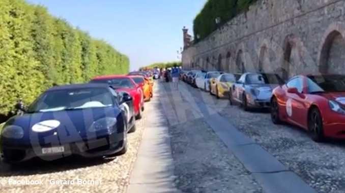 Raduno di Ferrari e Lamborghini da Guarene alla Liguria