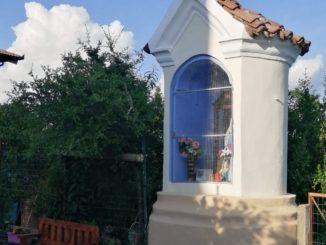 Recuperata la statua dell'eremita Cech nel pilone dei Bogetti