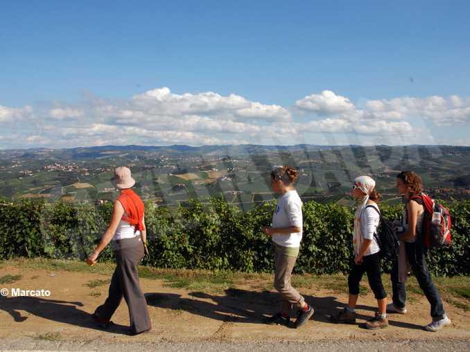 turisti colline langhe