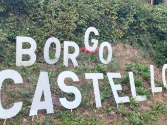 """Restituita la lettera rubata dalla scritta """"borgo Castello"""" a Dogliani"""