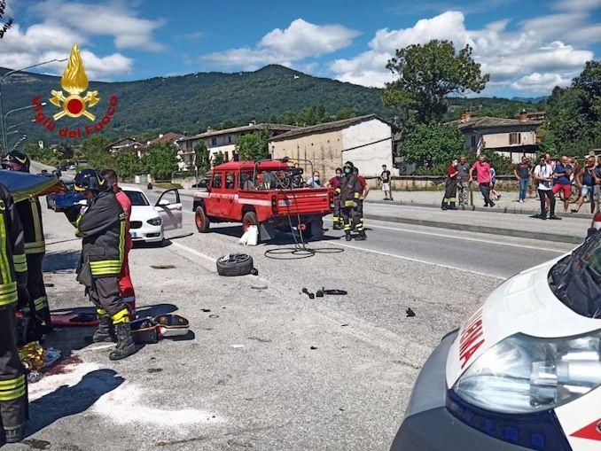 Incidente Bagnolo Piemonte