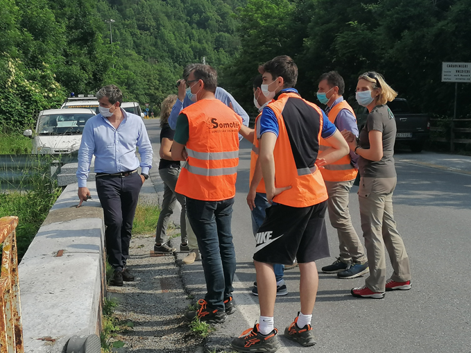 sindaco Valdieri ponte con tecnici (1