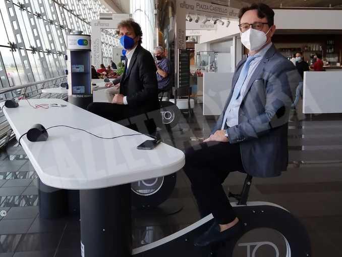 All'aeroporto di Torino si ricarica lo smartphone pedalando