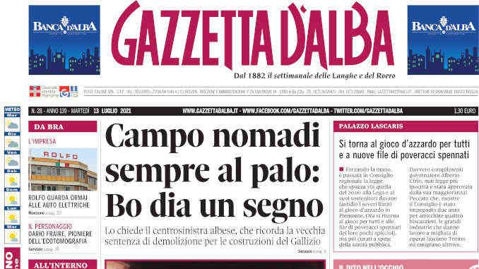 La copertina di Gazzetta d'Alba in edicola martedì 13 luglio