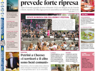 La copertina di Gazzetta d'Alba in edicola martedì 20 luglio