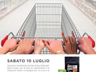 Il 10 luglio alla Nova Coop di Bra, Cuneo e Savigliano la raccolta alimentare per canili e gattili