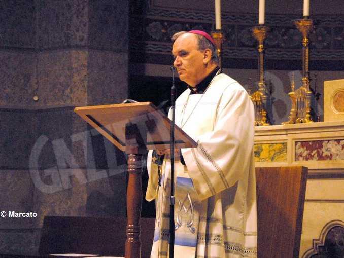 Tv2000 trasmette il rosario con il vescovo Brunettidal santuario Madonna del popolo di Cherasco