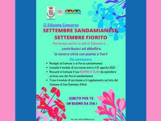 """""""Settembre sandamianese, settembre fiorito"""": ancora pochi giorni per iscriversi al concorso"""