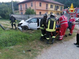 Auto fuoristrada a Baldissero d'Alba, un ferito
