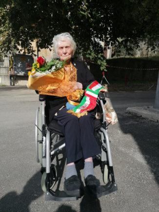 Margherita Ghibaudo compie 100 anni, a festeggiarla i sindaci di Valdieri e Roaschia