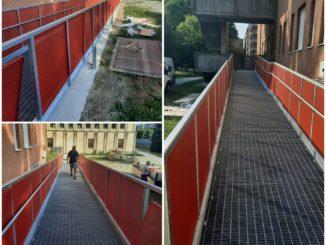 Completata eliminazione barriere architettoniche media 3 di Bra