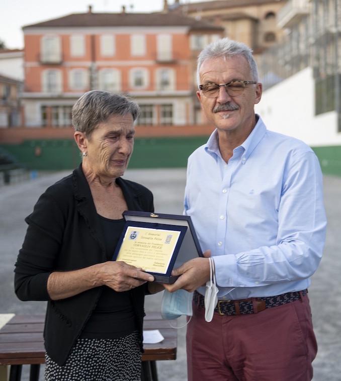 Piera con il sindaco Artusio Comba