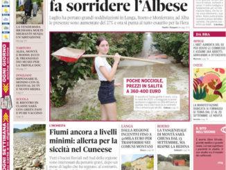 La copertina di Gazzetta d'Alba in edicola martedì 31 agosto